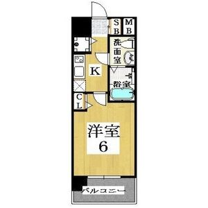 1K Mansion in Inari - Osaka-shi Naniwa-ku Floorplan