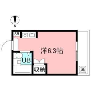 1R Apartment in Kamikitazawa - Setagaya-ku Floorplan