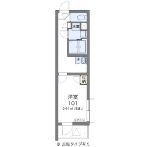 1K Mansion in Nakacho - Saitama-shi Omiya-ku Floorplan