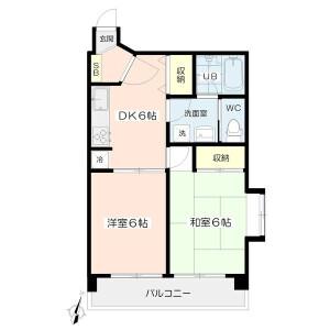 新宿區西早稲田(その他)-2DK公寓大廈 房間格局