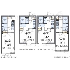 1K Apartment in Tsukagoshi - Warabi-shi Floorplan
