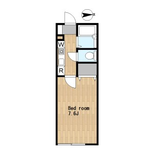 1K Apartment in Tamagawadai - Setagaya-ku Floorplan