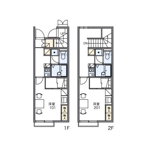 1K Apartment in Fuchucho - Fuchu-shi Floorplan