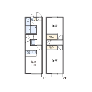 2DK Apartment in Kasagicho - Ogaki-shi Floorplan
