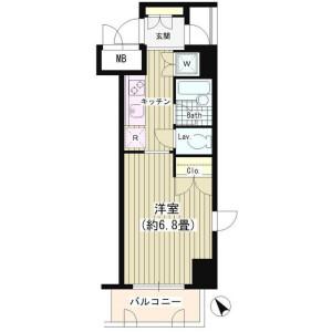 1K Mansion in Shibuya - Shibuya-ku Floorplan