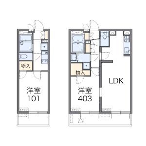 1K 아파트 in Higashiogu - Arakawa-ku Floorplan