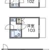 1K アパート 大阪市西淀川区 間取り