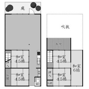 6DK {building type} in Sankencho - Kyoto-shi Kamigyo-ku Floorplan