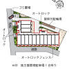 1R 아파트 to Rent in Adachi-ku Floorplan