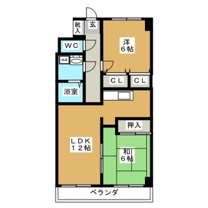 2LDK Mansion in Higashikasai - Edogawa-ku Floorplan