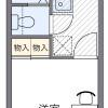 在横浜市西区内租赁1K 公寓 的 楼层布局