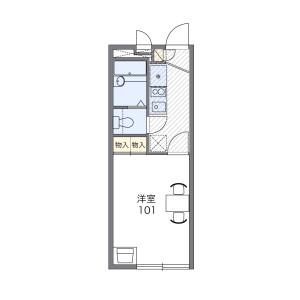 横濱市西區境之谷-1K公寓 房間格局