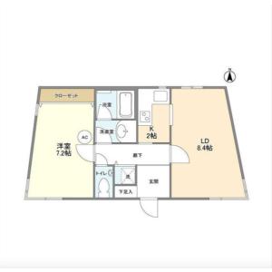 1LDK Mansion in Shinsencho - Shibuya-ku Floorplan