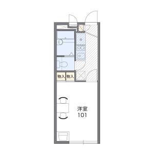 1K Apartment in Higashikamidacho - Neyagawa-shi Floorplan