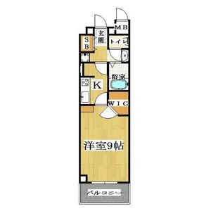1K Mansion in Sakuragawa - Osaka-shi Naniwa-ku Floorplan
