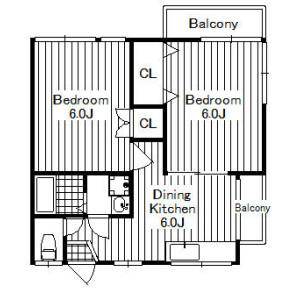 2DK Apartment in Kamiosaki - Shinagawa-ku Floorplan