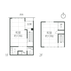 京都市中京區正行寺町-2K{building type} 房間格局