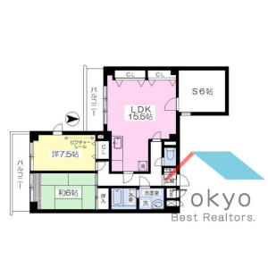 2SLDK Mansion in Nogata - Nakano-ku Floorplan