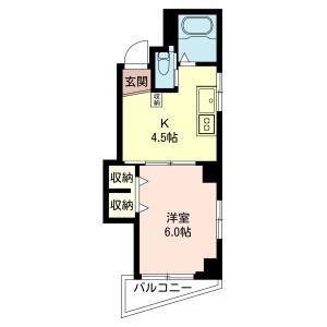 1K {building type} in Nishiogiminami - Suginami-ku Floorplan
