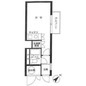 1R Mansion in Jingumae - Shibuya-ku Floorplan