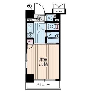 1K 맨션 in Sueyoshicho - Yokohama-shi Naka-ku Floorplan