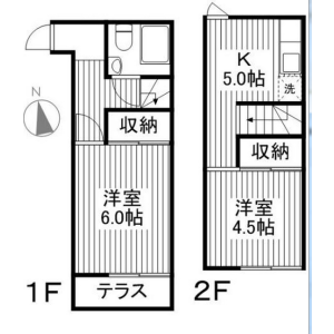 2DK Mansion in Sanno - Ota-ku Floorplan