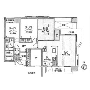 京都市中京区下妙覚寺町-1SLDK{building type} 楼层布局