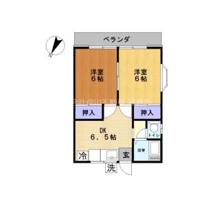 2DK Apartment in Shimmei - Adachi-ku Floorplan