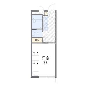 埼玉市浦和區本太-1K公寓 房間格局