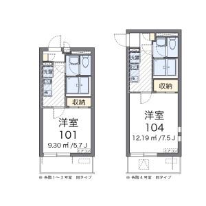 1K Apartment in Shiratori - Katsushika-ku Floorplan