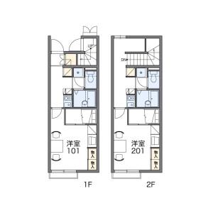 1K Apartment in Kamishizu - Sakura-shi Floorplan