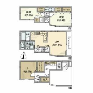 2SLDK House in Kitazawa - Setagaya-ku Floorplan