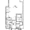在大阪市中央区内租赁1K 公寓大厦 的 楼层布局