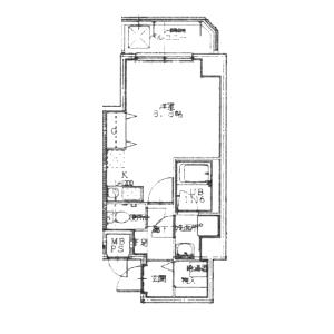 大阪市中央区北浜-1K公寓大厦 楼层布局