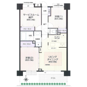 3LDK {building type} in Kasugacho - Nerima-ku Floorplan
