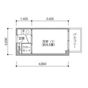 UR Mejiro Danchi - Guest House in Toshima-ku Floorplan