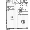 在港区内租赁1LDK 公寓大厦 的 楼层布局