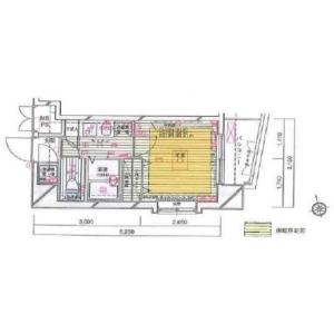 港區白金-1K公寓大廈 房間格局