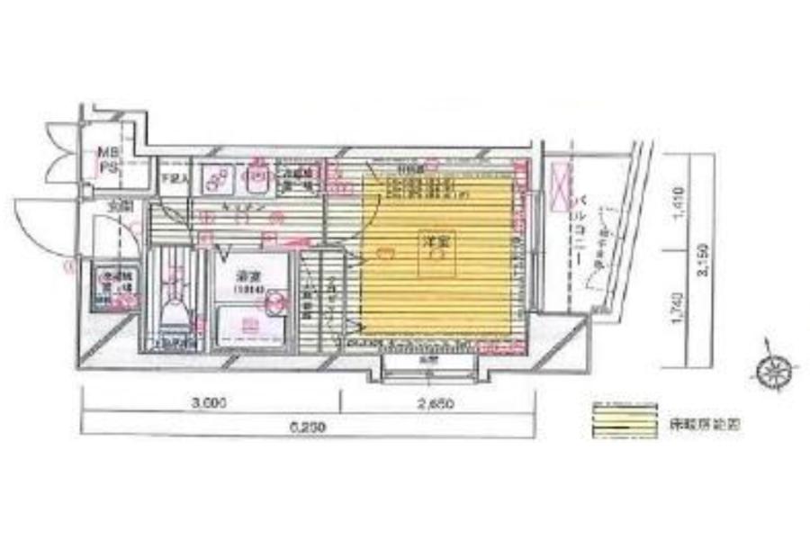 在港區內租賃1K 公寓大廈 的房產 房間格局