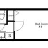 在大田区购买1K 公寓大厦的 楼层布局