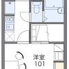 在西东京市内租赁1K 公寓 的 楼层布局