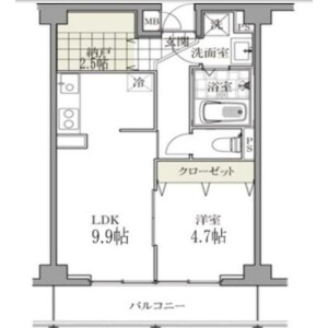1SLDK Mansion in Shirokanedai - Minato-ku Floorplan