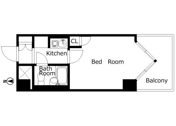 1K Apartment to Rent in Kyoto-shi Nakagyo-ku Floorplan