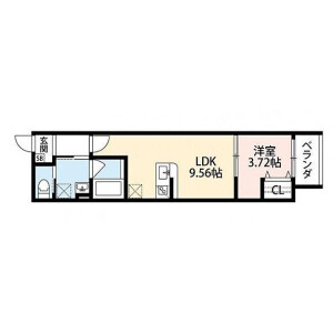 1LDK Mansion in Kamiji - Osaka-shi Higashinari-ku Floorplan