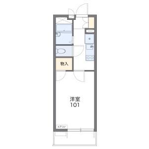1K Mansion in Hasamacho - Funabashi-shi Floorplan