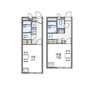 1K Apartment in Toyofuta - Kashiwa-shi Floorplan