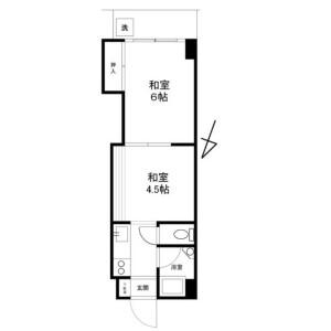 2K {building type} in Mita - Minato-ku Floorplan