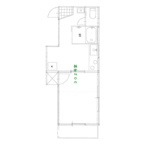 1K Apartment in Uguisudanicho - Shibuya-ku Floorplan