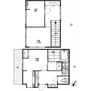 3K House in Ikebukuro (1-chome) - Toshima-ku Floorplan