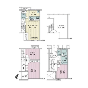 3LDK {building type} in Meguro - Meguro-ku Floorplan